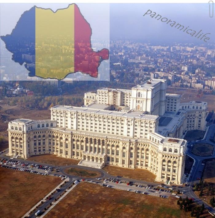 il palazzo del parlamento a bucarest in romania e